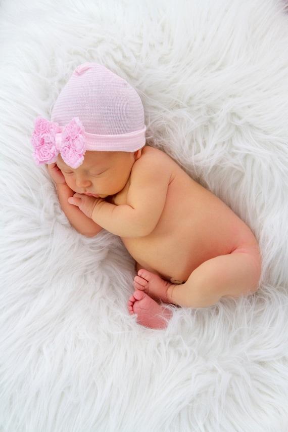 df134b3815b newborn hospital hat with bow newborn hat baby girl newborn