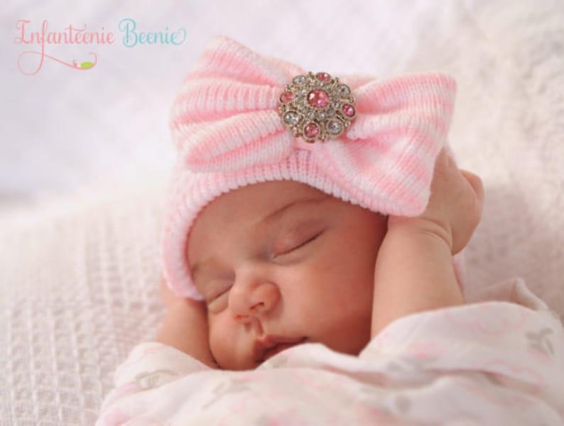 bd9f15618 baby girl newborn hospital hat, baby girl, newborn hospital hat,  infanteenie beenie, infanteenie beanie