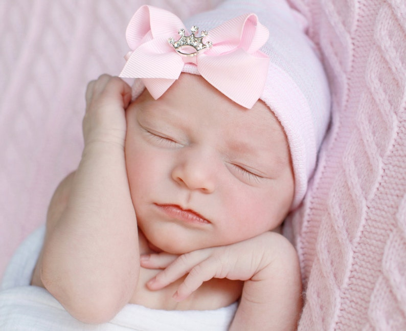 d209aab3582 Baby girl newborn hospital hat baby girl hat baby girl hats