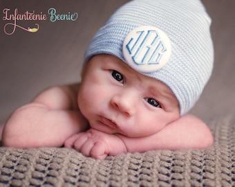 monogrammed baby boy newborn hospital hat, monogrammed, baby boy monogrammed newborn hat, monogrammed newborn hat, baby boy, boy hat