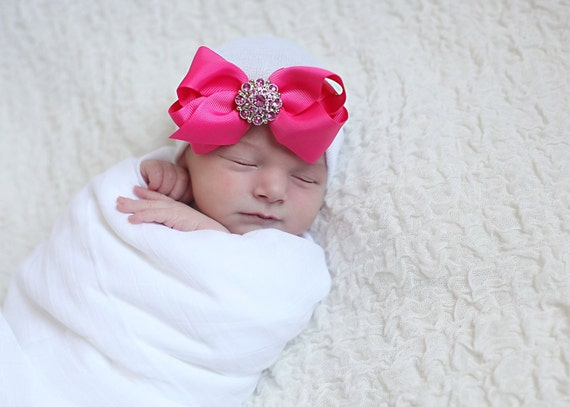 c016f1e2c23 BABY GIRL HAT baby girl newborn hospital hat newborn girl hat