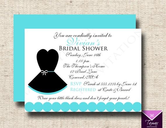 Printable Breakfast At Tiffanys Bridal Shower Invitation Little