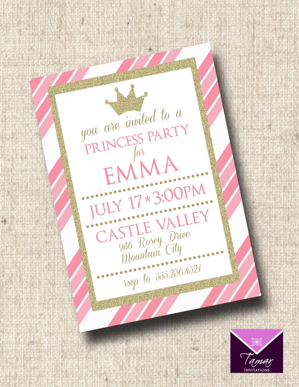 Printable Princess Party Invitation Princess Birthday | Etsy