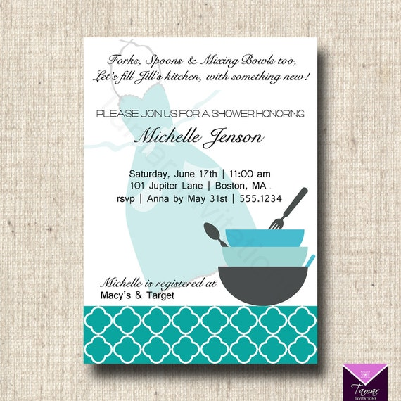 Printable bridal shower invitation and recipe card kitchen theme il570xn filmwisefo