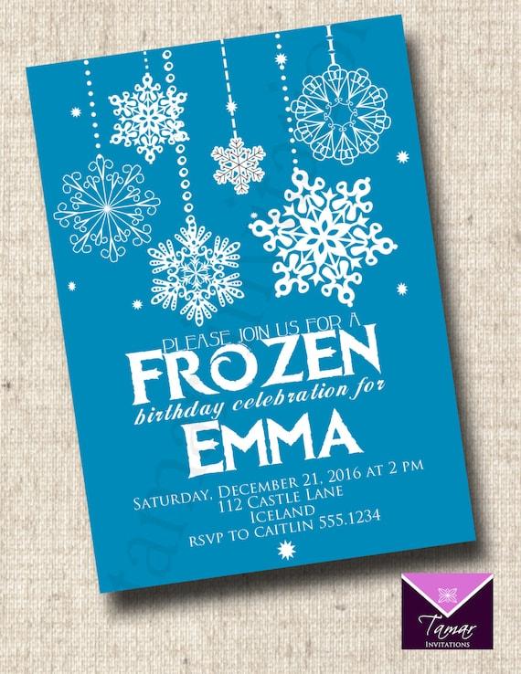 graphic about Printable Frozen Birthday Invitations named PRINTABLE FROZEN BIRTHDAY invitation via Tamar Invites