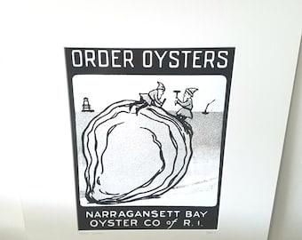 Rhode Island Order Oysters silver gelatin print