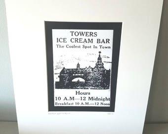 Narragansett Towers Rhode Island silver gelatin print