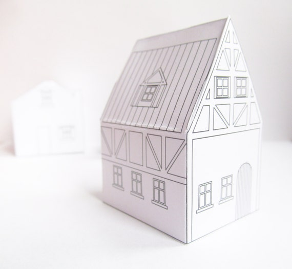 Paper Houses Download Templates Ready To Print Christmas Village Diy