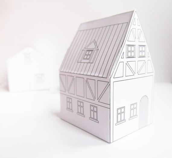 Papier Häuser Download Vorlagen bereit zum Drucken | Etsy