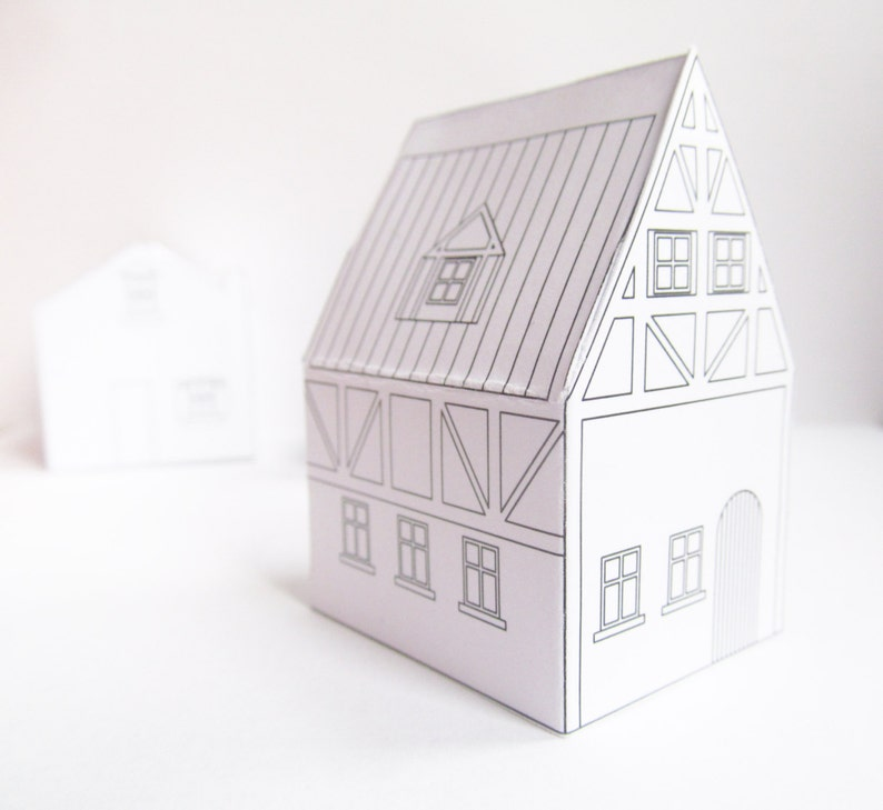 Paper houses, Download Templates, ready to print, christmas village, diy