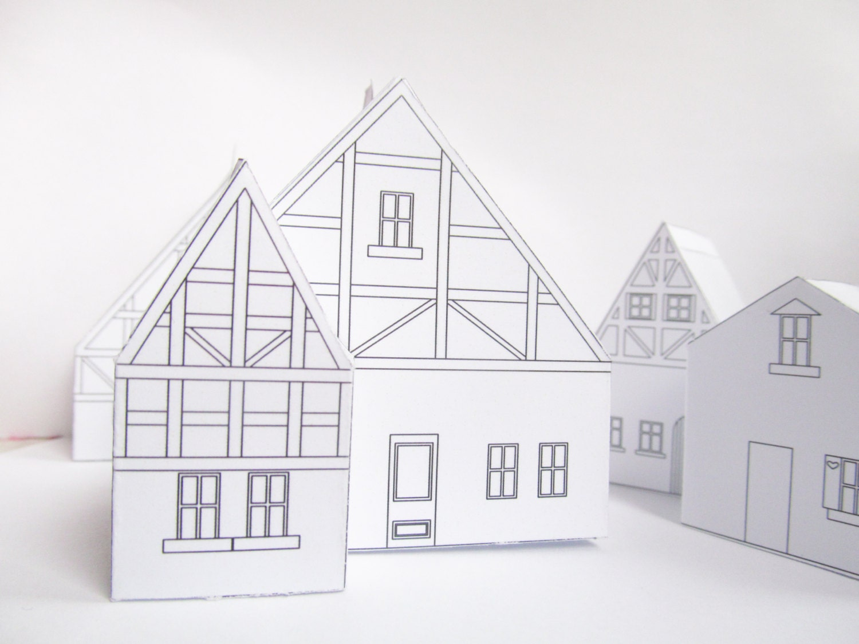 Casa de papel DIY plantilla de diseño listo para imprimir   Etsy