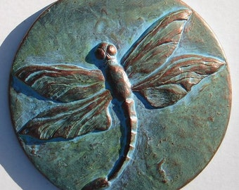 Concrete Dragonfly Plaque