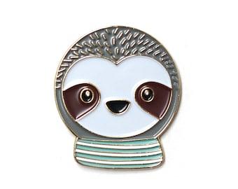 Simon Sloth - Enamel Pin, lapel pin, sloth