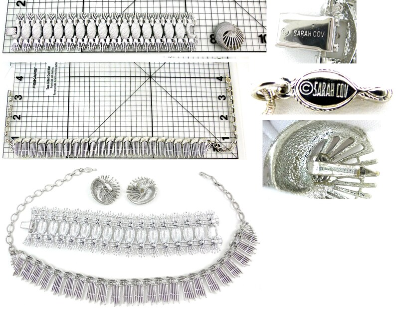 SARAH COVENTRY Simply Elegant Full Parure Necklace Gift for Her Bracelet /& Earrings Set Bracelet Extender Bridal Jewelry