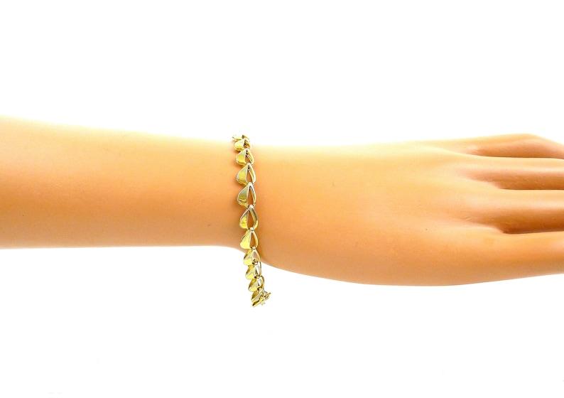 Gift for Wife Links of Open Hearts Heart Chain Bracelet Gift for Girlfriend Gold Heart Bracelet