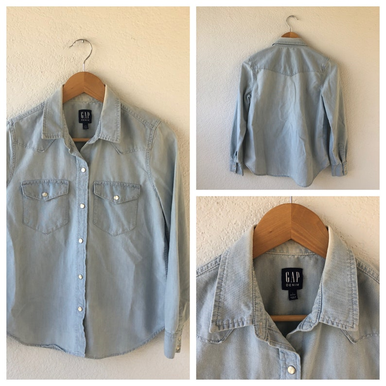 women jean pearl snap button up shirts