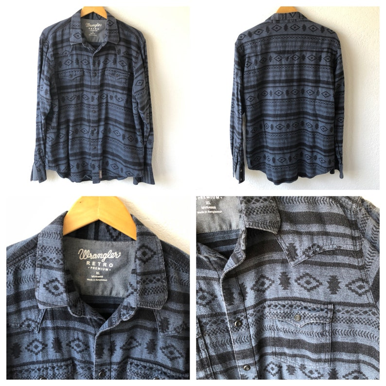 native american  print button up Mens Oxford shirts  Sweater southwest Aztec
