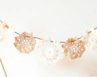 Doily Garland Cake Topper Mini Doilies Bunting
