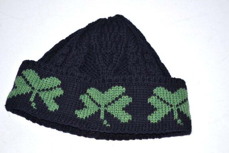23dfa142729 Vintage Carraigdonn Shamrock merino wool hat made in
