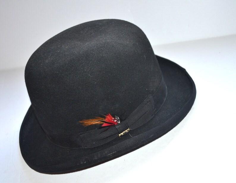 3f0100c9b42d5 Vintage men black felt Scala classic Dorfman Pacific CO fedora