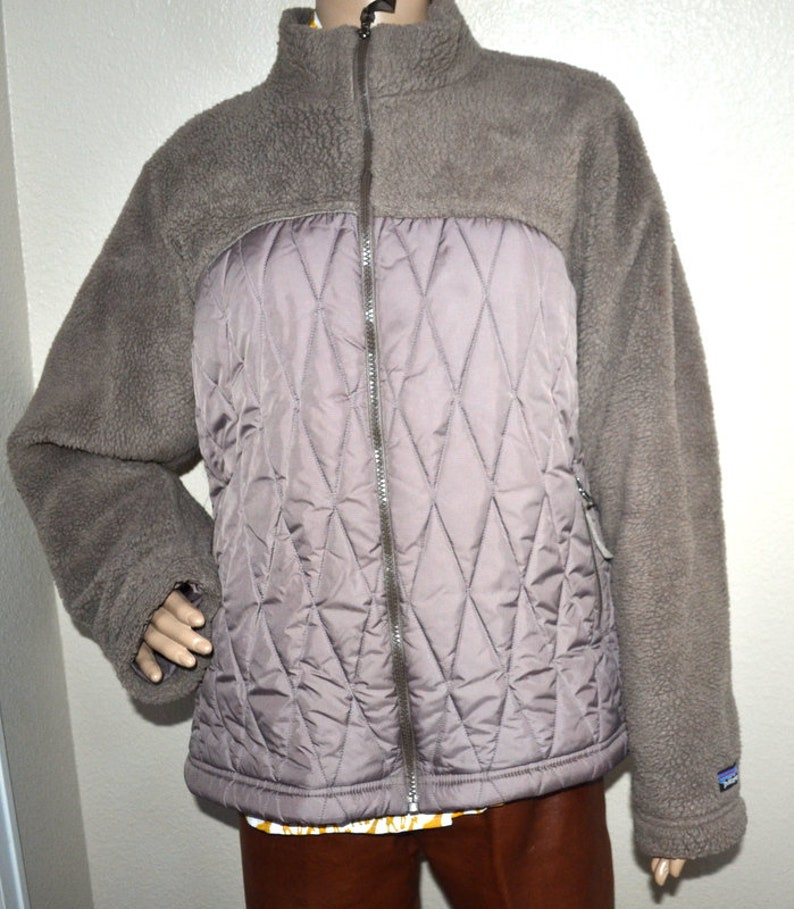Vintage 90s Patagonia quilted unisex zipped winter jacket  bb285da9a265