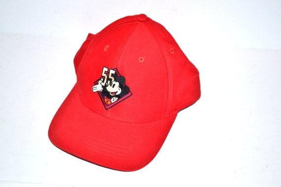aefca1d6c9a Vintage DisneyLand Mickey Mouse Baseball trucker Hat Cap red