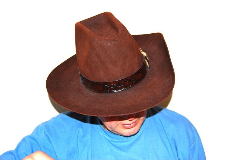 09fe70f6fe71e Vintage men pure fur felt Dynafelt cowboy Western Rancher hat