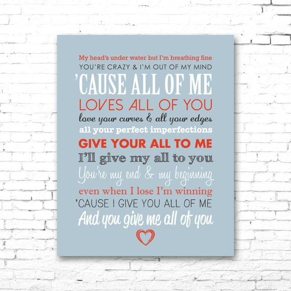 i ll give all of me