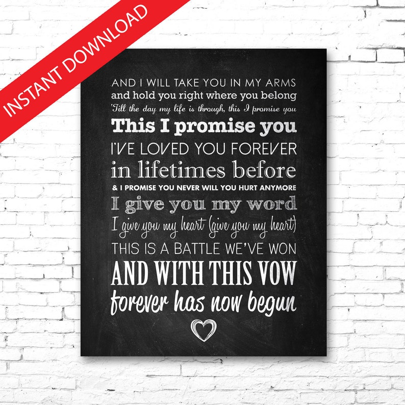 I promise you song