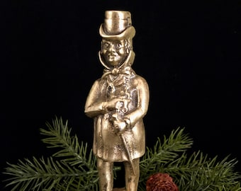Vintage Solid Brass Dicken's Character Mr. Micawber