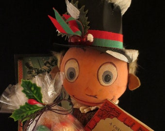 Artisan Made Ebenezer Scrooge Jack in the Box Christmas Decoration