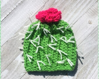 Cactus crochet hat newborn baby toddler size beanie 1eb4028fc5ea