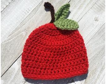 Crochet Apple Hat aa9fb009252
