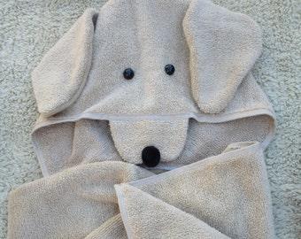 Golden Retriever Hooded Bath Towel