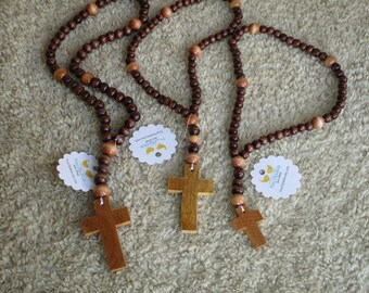 Rosary for Boys, Teens, Men, Women, or anyone who loves Earth Colors Wooden Beads
