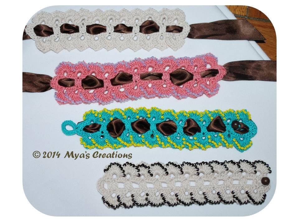 Pdf Crocheted Bracelet Tutorial How To Make A Beaded Petal Etsy