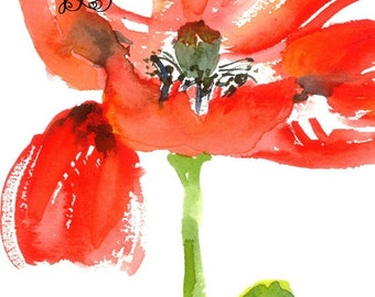 Burst of Color - 8 x 10 floral watercolor giclee print