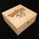 Pokemon Deck Box with Hinges & Latch-10 1/4 x 10 1/4 x 4 3/4