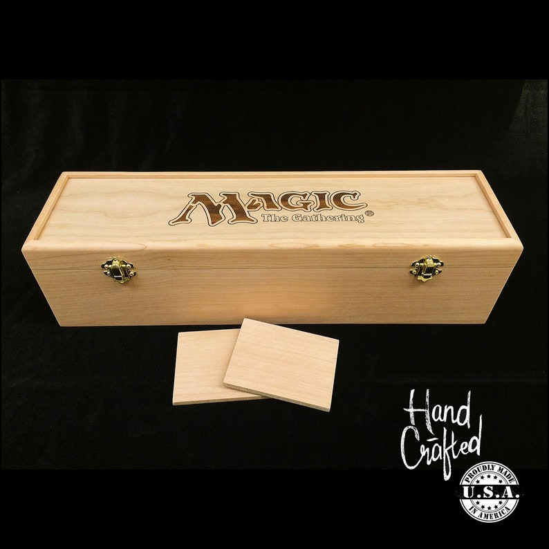 Magic the Gathering Deck Box with Hinges & Latches-16 3/4 x 4 image 0