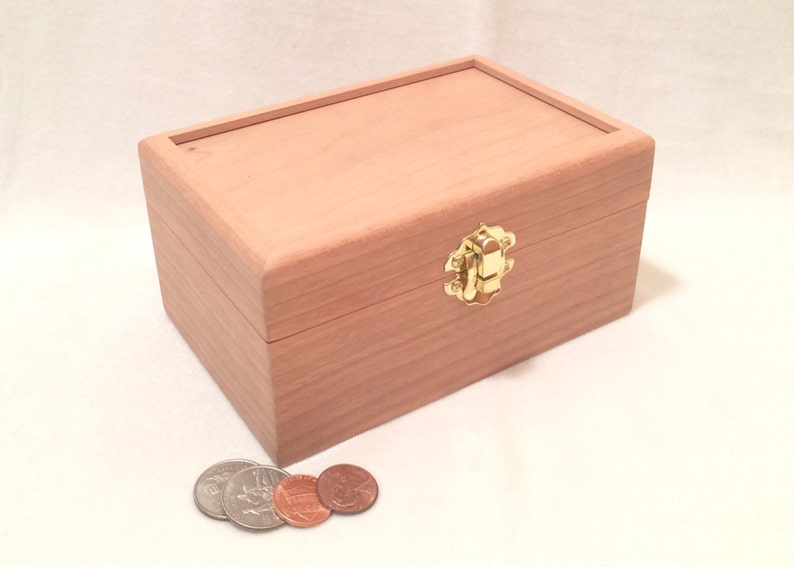 Unfinished Wood Box with Hinges & Latch-6 x 4 x 3-unfinished image 0