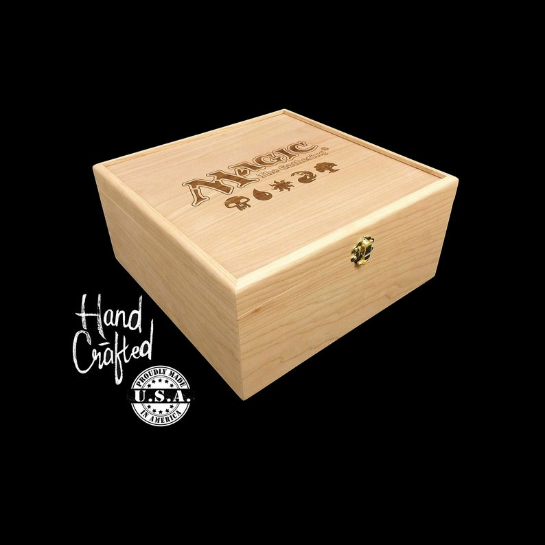 Magic the Gathering Deck Box with Hinges & Latches-10 1/4 x 10 image 0