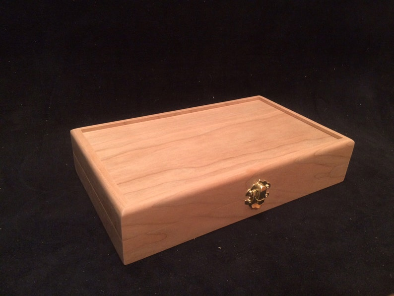 Unfinished Wood Box with Hinges & Latch-10 x 6 x 2-unfinished image 0
