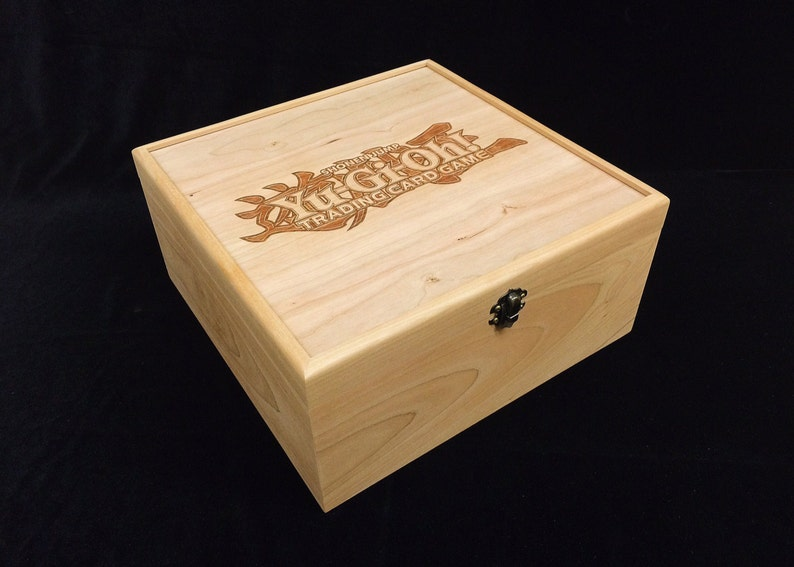 Yugioh Deck Box with Hinges & Latch-10 1/4 x 10 1/4 x 4 3/4 image 0