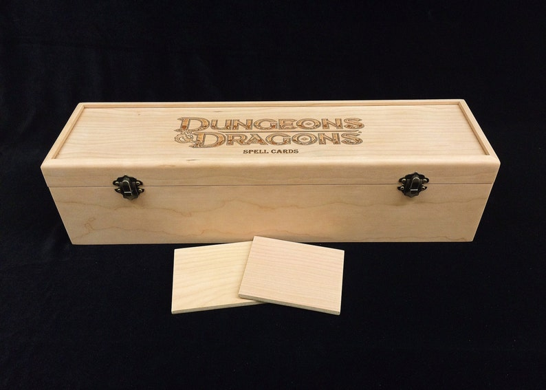 Dungeons and Dragons Deck Box with Hinges & 2 Latches-16 3/4x4 image 0