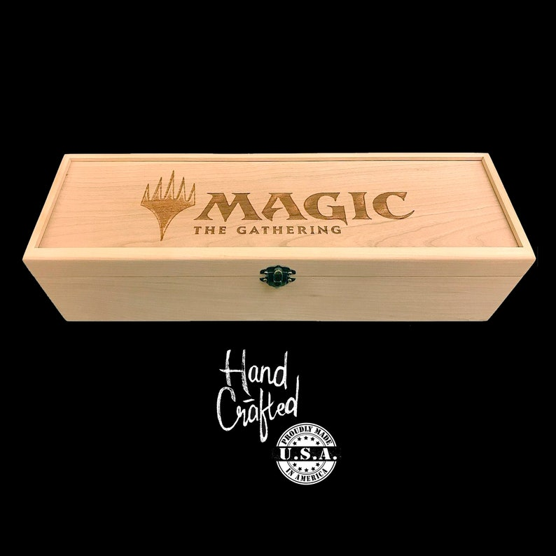 Magic the Gathering Deck Box with adjustable laser cut image 0