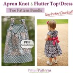 Apron Knot Dress and Flutter Top/Dress PDF Two Pattern Bundle