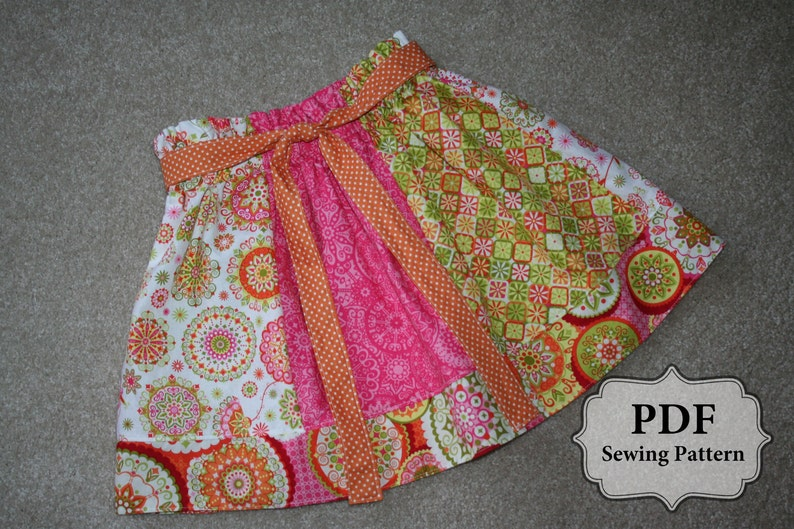 PDF Simple Skirt Pattern sizes 3 month  10 years INSTANT image 0
