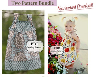 Apron Knot Dress and Easy Halter Dress/Top PDF Two Pattern Bundle