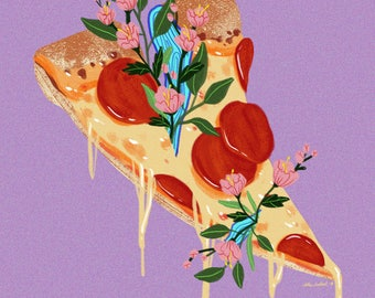 Floral Pizza (Print)