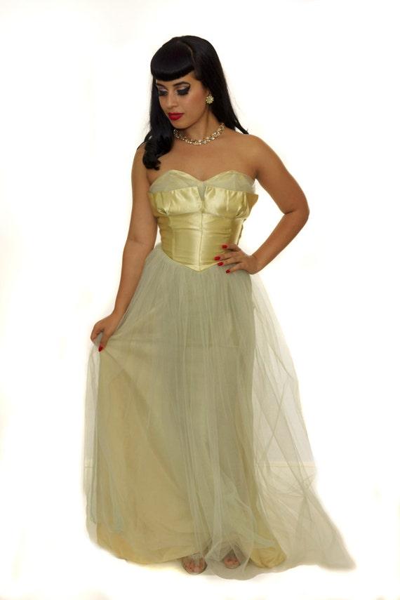 Vintage 1950s  Prom Dress /  50s Dress / Vintage … - image 3